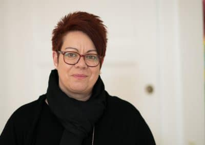Tina Schäb, Bereichsleitung Aufnahme- und Teilhabemanagement